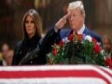 Trumps Pay Respects At Public Viewing For George H.W. Bush