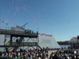 US Navy Christens New Warship 'Zumwalt'