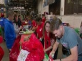 USO Plays Santa For Military Families