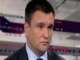 Ukrainian Foreign Minister Blasts Russian Propaganda