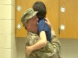 US Navy Reserve Commander Surprises Son After Deployment