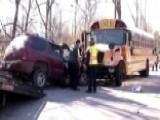 Video Captures Screams Of Terror As SUV Hits School Bus