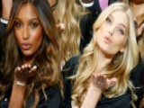 Victoria's Secret Models Land In Paris