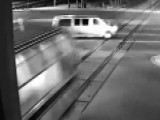 Van Appears To Purposely Drive Into Train's Path In Crash