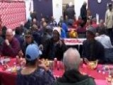 Veterans Get A Hot Holiday Meal Courtesy Of Oakland Raiders Defensive Lineman Jonathan Hankins