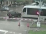 Watch As SUV Tries To Beat Oncoming Train