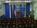 White House Press Briefing Disrupted, Officers Clearing Room