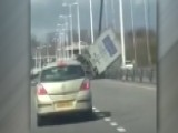Watch High Winds Flip Tractor-trailer On Busy Bridge
