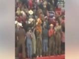 White Students Hold 'Trump' Sign, Turn Backs On Black Team