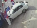 Woman Seriously Injured When Car Slams Into Gas Pump