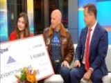 Weatherman Umbrella Donates $70,000 To Folds Of Honor