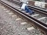 Crazy Indian Train Stunt