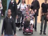 Halle Berry Scoots Around Disneyland