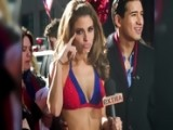Maria Menounos Strips Down To Bikini In Times Square After Losing Super Bowl Bet