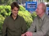 Rod Laver, Roger Federer On Australian Open