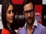 Saif Ali Khan And Kareena Kapoor PROMOTE AGENT VINOD