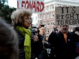 Angela Davis Speaks At Oscar Grant Plaza During Occupy Oakland's West Coast Port Shutdown