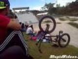BMX Race Start Fail