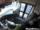 SUV Almost Hits Kids By School Bus