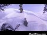 Snowmobile Cliff Summit Close Call