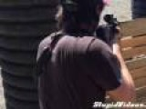 Keanu Reeves At The Rifle Range