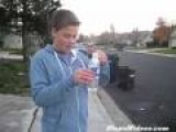 Stupid Kid Blows Up Little Bomb In Hand