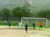 Soccer Ball Hits Everything But The Net