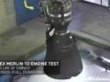 SpaceX Merlin Rocket Test