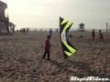 Incredible Stunt Kite Teases Kid
