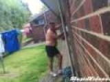 Angry Dad Has Trouble With Sprinklers
