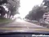 Jerk Motorcyclist Gets What' S Coming To Him