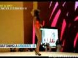 Beauty Pageant Contestant Has Hard Time On Heels