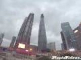 Russians Climb Crane On World's 2nd Tallest Building
