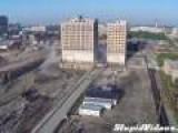 Detroit Hotel Implosion