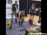 Girl Pukes While Powerlifting