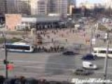 Man Drags Car Using Moving Bus