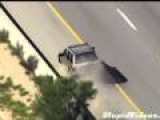 Highway Chase Ends In Spectacular Crash