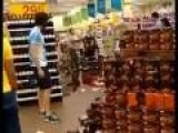 Crazy Woman Destroys Grocery Store For Some Reason