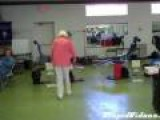 90 Year Old Woman Does Double Back Flip
