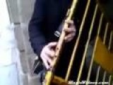 Musician Makes Gate Into Flute