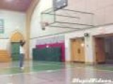 Blindfolded Full Court Shot