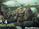Brass Band Entertains People Stuck On Runway