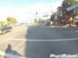 Bully Attacks Motorcycle