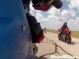 Biker Hits Brakes Too Hard