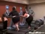 Big Women On Treadmill
