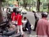 Cop Runs Over Suspect's Feet