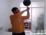 Calligraphy Writing While Spinning A Basketball