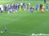 Crowd Goes Wild When Random Kid Scores Goal