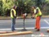 Construction Workers Go For A Ride