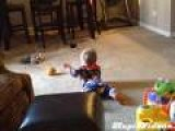 Dog Steals Toy From Baby